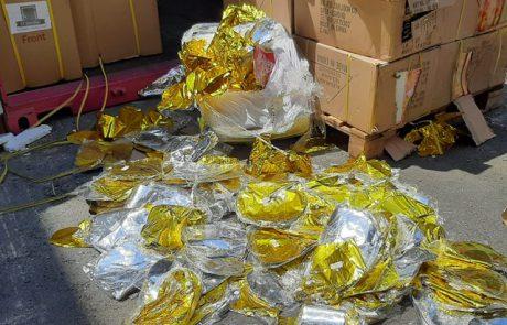 מכס אשדוד סיכל הברחות אל תוך רצועת עזה של עשרות אלפי בלוני הליום