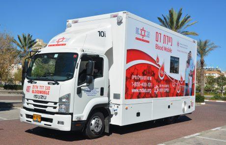 """בעקבות מחסור חמור בדם שירותי הדם של מד""""א מספקים לבתי החולים דם רק במקרים דחופים וקוראים לציבור לתרום דם בדחיפותבאשדוד"""