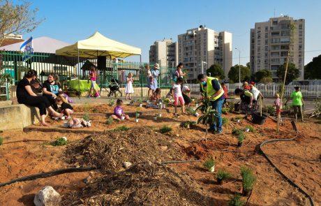 הפרוייקט ממשיך להתקדם: הגינה ה-16 נחנכה באשדוד
