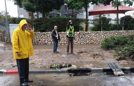 הפוגה בגשמים באשדוד