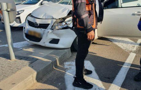 תאונת דרכים ברחוב מנחם בגין