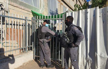 שוטרי משטרת ישראל הגיעו הבוקר לאכוף את הנחיות הסגר במוסד החינוכי גרודנא באשדוד