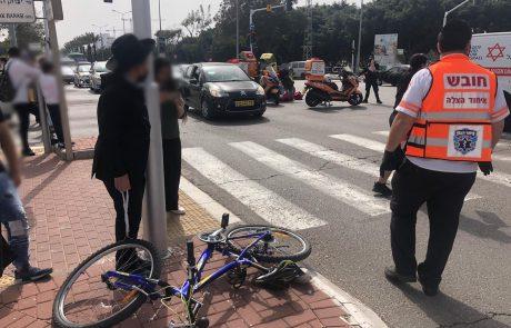 אשדוד: בן 10 שרכב על אופניים נפצע בינוני בתאונה
