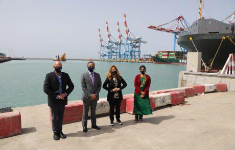 שגריר הודו בישראל ביקר היום בנמל אשדוד לצורך בחינת שיתופי פעולה אפשריים