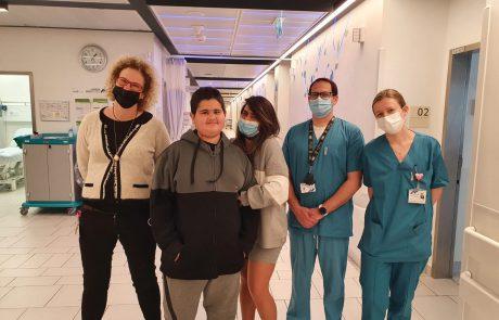 סוף טוב: ניצלו חייו של נער בן 14 לאחר שטופל באקמו במרכז הרפואי אסותא