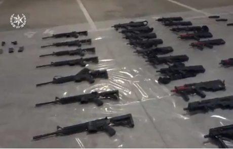 """הותר לפרסום: חקירה משותפת של השב""""כ ומשטרת ישראל הובילה לאיתורם של 48 נשקים שנכנסו בחודש מרץ ממטווח באשדוד"""